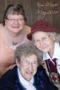 A photo of me, my mom, and friend Isabel at a visit with Isabel back in  May 2014.