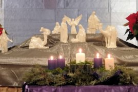 The alter with the nativity