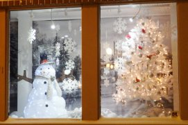 Snowman in Shop Window