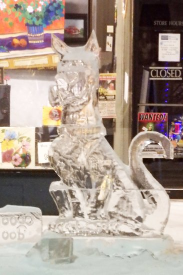 Ice Sculpture of Scooby Doo